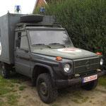 """Unser Mercedes """"Wolf"""", ein ehemaliges Fahrzeug der Bundeswehr"""