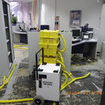 Dämmschichttrocknung in der TARGO-Bank Rohrbruch