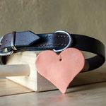 Schlichtes Hundehalsband aus Büffelleder