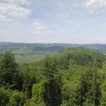 Blick von Egerberk auf den Mravencák und die Krusne hory, 16.05.2015, Foto W. Dietrich