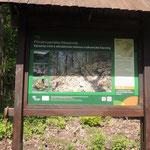 Informationstafel über das  Reservat, 16.05.2015, Foto W. Dietrich
