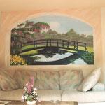 """Wohnzimmer - Living room """"Monet Garden"""""""