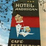 Werbung für Hotel Hadrigan, Wien