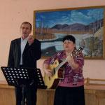 музыкально-поэтическая встреча  медицинских работников с   христианским поэтом Леонидом Лосевым и  христианским бардом Ириной Новиковой.