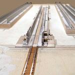 Hier im Schattenbahnhof können Züge gewechselt  und neu zusammengestellt werden.