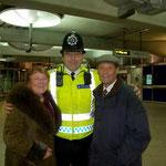 Auch die Polizisten wünschen ein gesundes neues Jahr...