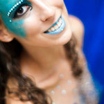 bodypaint angel, bodypainting angel,sparkles,blue angel