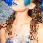 bodypaint angel, bodypainting angel,sparkles,blue angel