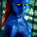 jennifer lawrence mystique x-men xmen body paint