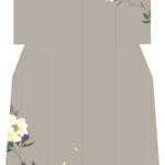 「牡丹に蝶」・ベージュ