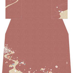 「流水にオシドリ」・赤茶
