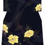 「黄牡丹」・黒紫