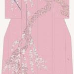 「川面のしだれ桜」・ピンク