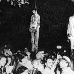 NOMBRE DE LA IMAGEN: Lynching. AUTOR: Anónimo. AÑO: 1930.
