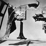 NOMBRE DE LA IMAGEN: Dalí atómico. AUTOR: Philippe Halsman. AÑO: 1948.