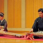 新月演奏会、無事に終了いたしました。たくさんの方のご来場、本当にありがとうございました。岡村慎太郎先生と、箏 組歌『四季の曲』