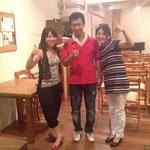 Hitomi Aikawa(Perc) and Yoji Sato(Cb)