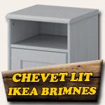 Chevets sur mesure pour lit Ikéa Brimnes