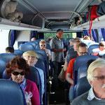 Die Anreise mit dem komfortblen Reisebus war sehr kurzweilig.