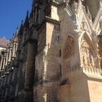 Die erst teilweise abgeschlossenen Renovierungsarbeiten lassen erahnen, wie beeindruckend die Kathedrale nach Beendigung wieder aussehen wird.