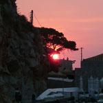 Sonnenuntergang auf der Insel Hydra