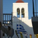 Die griechische Flagge die Farben der Bayrischen entnommen