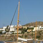 Ein klassiches Segelboot