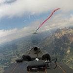 Blick auf dem Weg Richtung Grenoble, leider zu spät um weiterzufliegen.