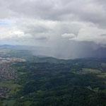 Wieder ein Schauer, im Odenwald sogar mit Blitz...