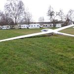 Landung in Weinheim, rechtzeitig die Entscheidung getroffen, nicht weiterzufliegen. Ackerlandung muss echt nicht sein.