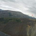 Endanflug auf La Motte über dem Gache
