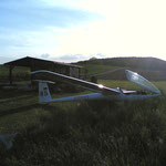 Landung auf Modellflugplatz Waldzell