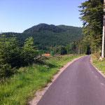 La piste cyclable entre Saulxures et Bourg-Bruche