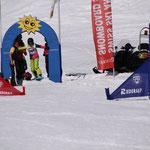 Start zum ersten Snowboard-Rennen