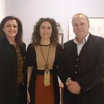 Con el Subdirector del diario LA OPINIÓN y la Prof.Dra. Josefina Tafalla