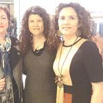 Con la Prof. Dra. de Univ.Murcia, Rosario Guarino y la Poeta Milagros López
