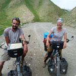 Zwei Franzosen, die bereits 7500 km per bike hierher unterwegs sind