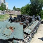 zerstörter deutscher Panzer