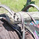 Dieser Sattel oder Tragehalterung sind bestimmt schon viele Eselgenerationen alt