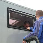 Fenstereinbau in Ungarn bei KNAUS