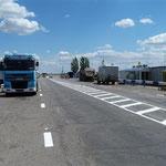 Eine einsame Rast auf dem Truckerhighway