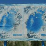 Links Seebild der NASA von 1960, rechts von 1970