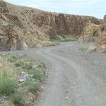 impessionen einer Fahrt - hinein in einen Canyon der nur im sommer befahrbar ist und eigentlich ansonsten Wasser führt