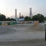Stahlwerk in Tadschikistan - hier arbeiten viele Chinesen wie auch im Strassenbau