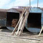 ehemalige Tanks als Lager umgebaut