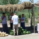 Diese Melonen der Region Khiva gelten als die Besten und seien im 14.Jahrhundert bis nach Bagdad exportiert werden - aber wie?