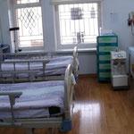 die Klinik ist aus der sowjetzeit und in einem nicht serh guten Zustand