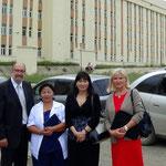 Wir besuchen offiziell das Mutter Kind Zentrum von Ulaanbator mit 10.000 Geburten jährlich