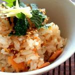 焼き鮭と発芽玄米の炊き込みご飯