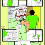 Ilustración para colectivo de mujeres encontra del machismo en las labores del hogar